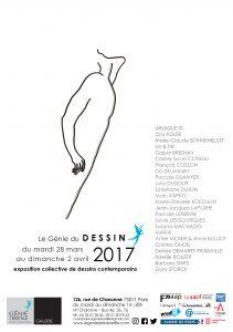 """Affiche de l'exposition """"Le Génie du dessin 2017"""""""